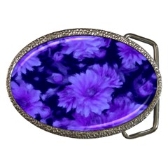 Phenomenal Blossoms Blue Belt Buckles