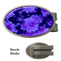 Phenomenal Blossoms Blue Money Clips (oval)