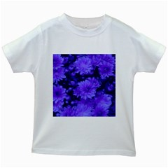 Phenomenal Blossoms Blue Kids White T Shirts