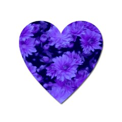 Phenomenal Blossoms Blue Heart Magnet