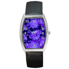 Phenomenal Blossoms Blue Barrel Metal Watches