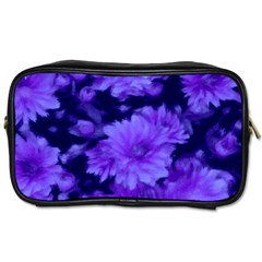 Phenomenal Blossoms Blue Toiletries Bags 2 Side by MoreColorsinLife