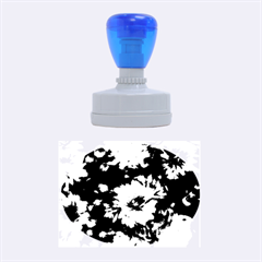 Phenomenal Blossoms Blue Rubber Oval Stamps