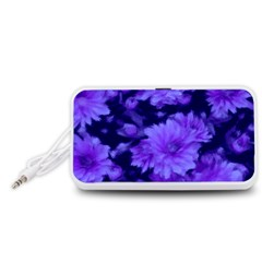 Phenomenal Blossoms Blue Portable Speaker (White)  by MoreColorsinLife