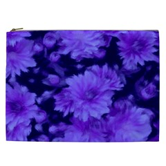 Phenomenal Blossoms Blue Cosmetic Bag (xxl)