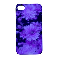 Phenomenal Blossoms Blue Apple Iphone 4/4s Hardshell Case With Stand