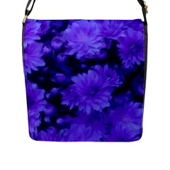 Phenomenal Blossoms Blue Flap Messenger Bag (l)