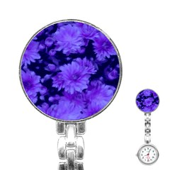 Phenomenal Blossoms Blue Stainless Steel Nurses Watches