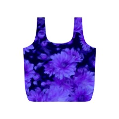 Phenomenal Blossoms Blue Full Print Recycle Bags (s)
