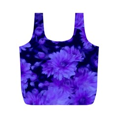 Phenomenal Blossoms Blue Full Print Recycle Bags (m)