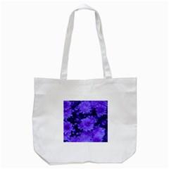 Phenomenal Blossoms Blue Tote Bag (white)