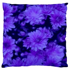 Phenomenal Blossoms Blue Standard Flano Cushion Cases (one Side)