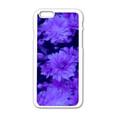 Phenomenal Blossoms Blue Apple Iphone 6/6s White Enamel Case