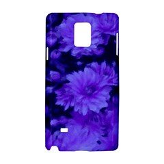 Phenomenal Blossoms Blue Samsung Galaxy Note 4 Hardshell Case by MoreColorsinLife