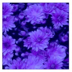 Phenomenal Blossoms Blue Large Satin Scarf (square)