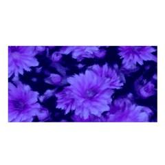 Phenomenal Blossoms Blue Satin Shawl