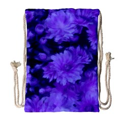 Phenomenal Blossoms Blue Drawstring Bag (large)
