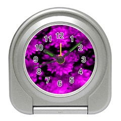 Phenomenal Blossoms Hot  Pink Travel Alarm Clocks by MoreColorsinLife