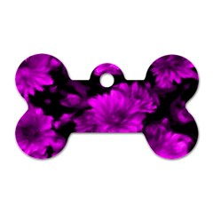 Phenomenal Blossoms Hot  Pink Dog Tag Bone (one Side) by MoreColorsinLife