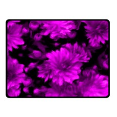 Phenomenal Blossoms Hot  Pink Fleece Blanket (small) by MoreColorsinLife