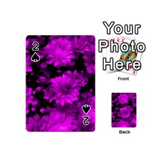 Phenomenal Blossoms Hot  Pink Playing Cards 54 (mini)