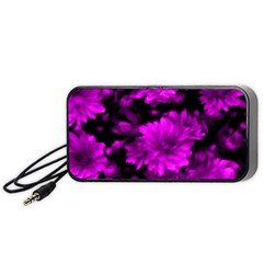 Phenomenal Blossoms Hot  Pink Portable Speaker (black)