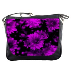 Phenomenal Blossoms Hot  Pink Messenger Bags