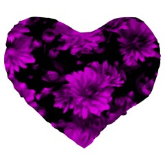 Phenomenal Blossoms Hot  Pink Large 19  Premium Heart Shape Cushions
