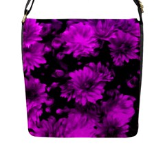Phenomenal Blossoms Hot  Pink Flap Messenger Bag (l)