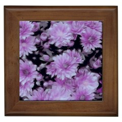 Phenomenal Blossoms Lilac Framed Tiles by MoreColorsinLife