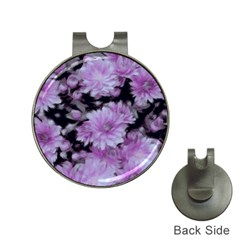 Phenomenal Blossoms Lilac Hat Clips With Golf Markers