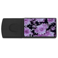 Phenomenal Blossoms Lilac Usb Flash Drive Rectangular (4 Gb)  by MoreColorsinLife