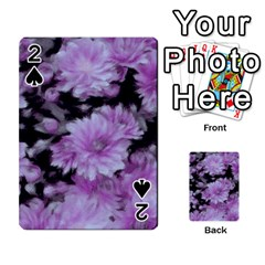 Phenomenal Blossoms Lilac Playing Cards 54 Designs