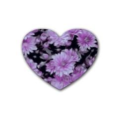 Phenomenal Blossoms Lilac Rubber Coaster (heart)