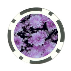 Phenomenal Blossoms Lilac Poker Chip Card Guards