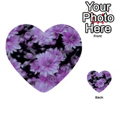 Phenomenal Blossoms Lilac Multi Purpose Cards (heart)  by MoreColorsinLife