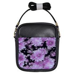 Phenomenal Blossoms Lilac Girls Sling Bags