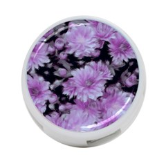 Phenomenal Blossoms Lilac 4 Port Usb Hub (two Sides)
