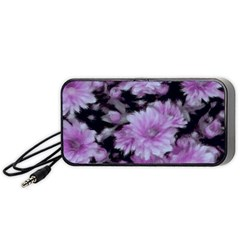 Phenomenal Blossoms Lilac Portable Speaker (Black)  by MoreColorsinLife