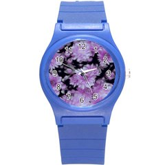 Phenomenal Blossoms Lilac Round Plastic Sport Watch (s)
