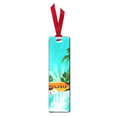 Surfboard With Palm And Flowers Small Book Marks by FantasyWorld7