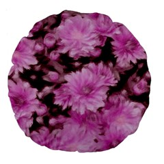 Phenomenal Blossoms Pink Large 18  Premium Flano Round Cushions by MoreColorsinLife