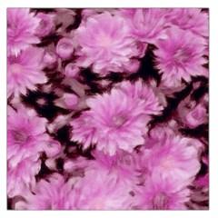 Phenomenal Blossoms Pink Large Satin Scarf (square)
