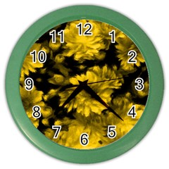 Phenomenal Blossoms Yellow Color Wall Clocks by MoreColorsinLife