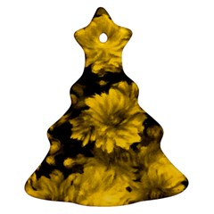 Phenomenal Blossoms Yellow Christmas Tree Ornament (2 Sides) by MoreColorsinLife