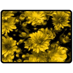 Phenomenal Blossoms Yellow Double Sided Fleece Blanket (large)