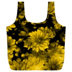 Phenomenal Blossoms Yellow Full Print Recycle Bags (l)