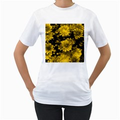 Phenomenal Blossoms Yellow Women s T Shirt (white)