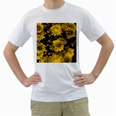 Phenomenal Blossoms Yellow Men s T Shirt (white)