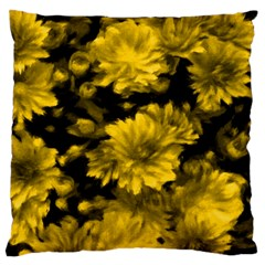 Phenomenal Blossoms Yellow Standard Flano Cushion Cases (Two Sides)  by MoreColorsinLife